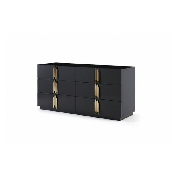 Sandvos 6 Drawer Double Dresser by Everly Quinn