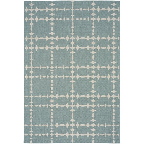 COCOCOZY Elsinore Tower Court Blue Indoor/Outdoor Area Rug by Capel Rugs