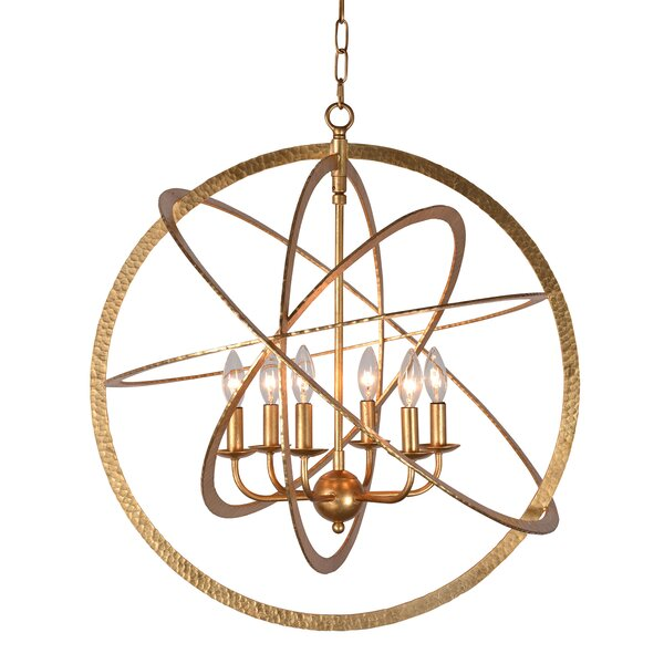 Mucha 6-Light Candle Style Globe Chandelier By Breakwater Bay