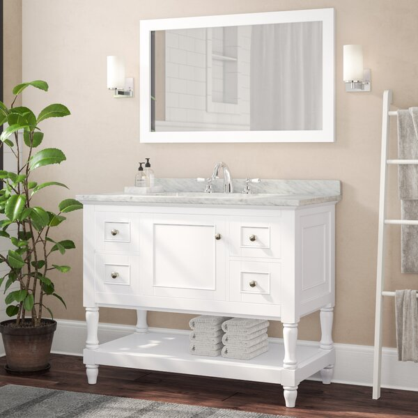 42 Single Bathroom Vanity Set with Mirror by Birch