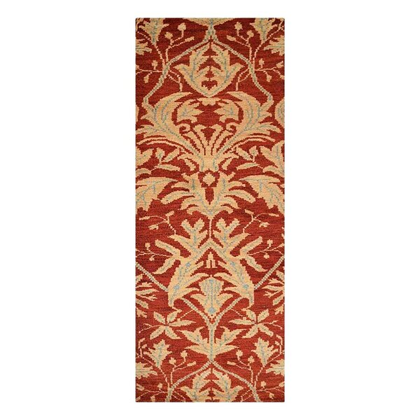 Creasman Floral Hand-Knotted Wool Red/Light Gold Area Rug by Darby Home Co