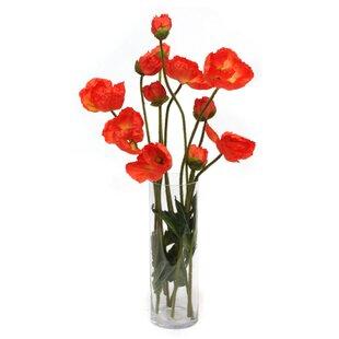 Faux poppies wayfair poppies in glass vase mightylinksfo