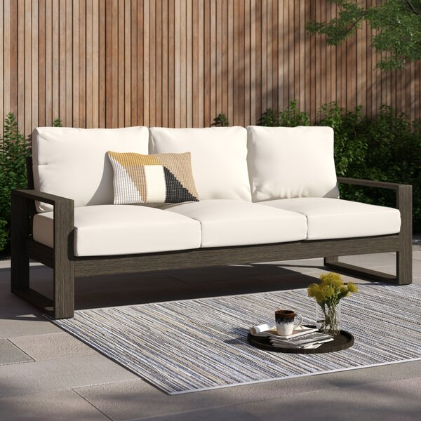 Parks Patio Sofa with Cushions by Foundstone