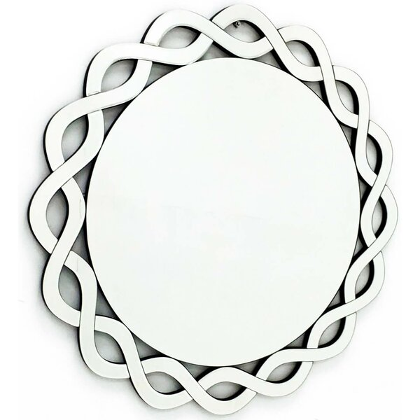 The Cumberland Modern Round Framed Vanity Wall Mirror by Fab Glass and Mirror
