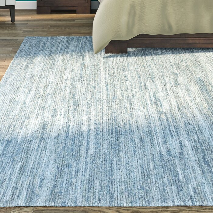 Hubbard Rescued Light Blue Dark Gray Area Rug