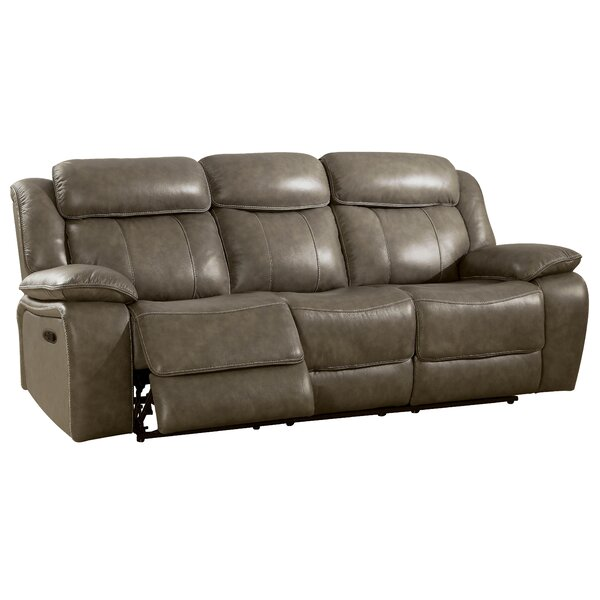 Farrior Leather Reclining Sofa by Red Barrel Studio