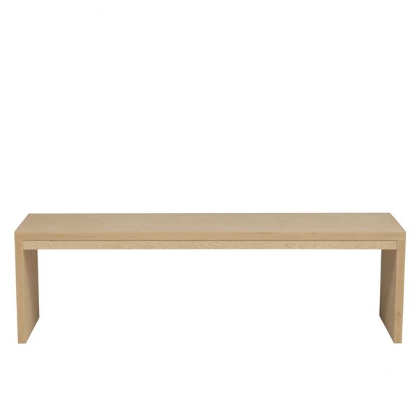 Kadon Two Seat Wood Bench by Orren Ellis