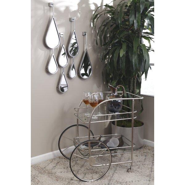 Petya Chariot Bar Cart by 17 Stories