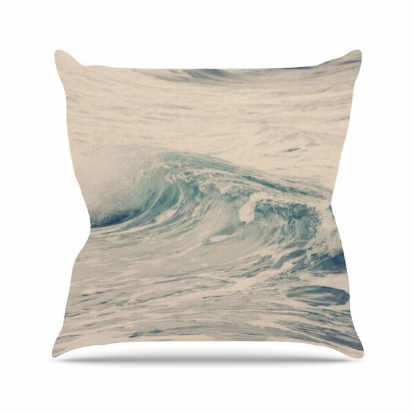 Sylvia Coomes Waves 1 Coastal Outdoor Throw Pillow by East Urban Home