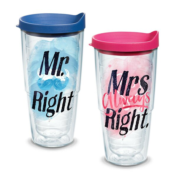 Celebrate Life 2 Piece Plastic Travel Tumbler Set by Tervis Tumbler