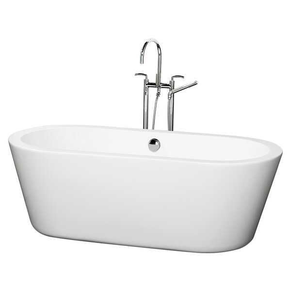Mermaid 67 x 32 Freestanding Soaking Bathtub by Wyndham Collection