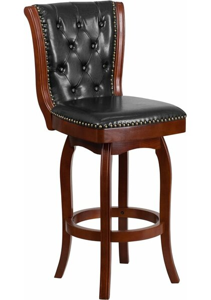 Rouillard 30'' Swivel Bar Stool by Astoria Grand