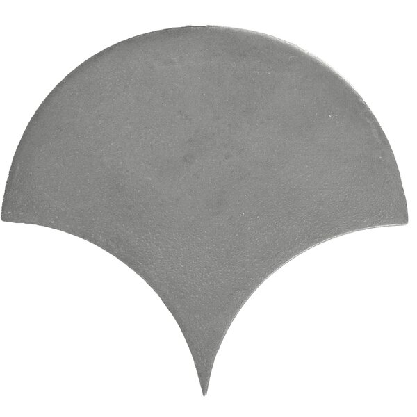 Urban Scallop Fan 5.5 x 5.4 Cement Mosaic Tile in Gray by Madrid Ceramics