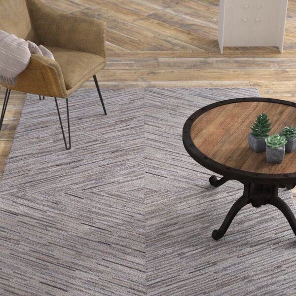 Celesse Hand Woven Cream/Taupe Area Rug by Williston Forge