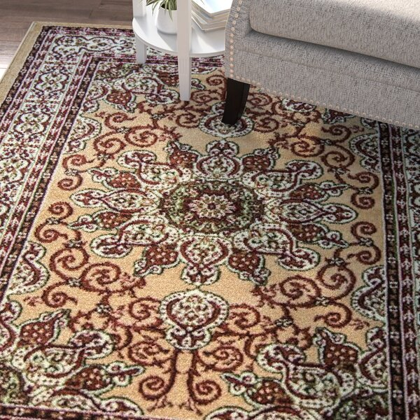 Meredosia Gold Area Rug by Three Posts
