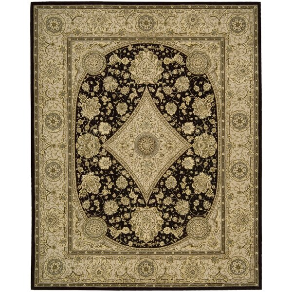 Buckhorn Hand Woven Wool Tan/Black Indoor Area Rug by Astoria Grand