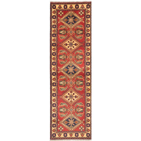 One-of-a-Kind Bunkerville Hand-Knotted Red Area Rug by World Menagerie
