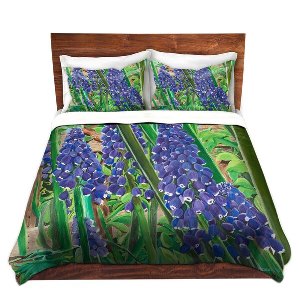 Marine Park Paul Cadieux Grape Hyacinth Microfiber Duvet Covers by Red Barrel Studio
