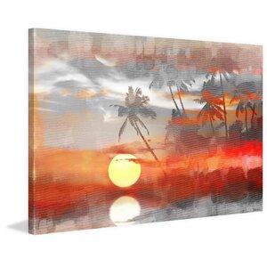 'Reflective Sun' by Parvez Taj Painting Print on Wrapped Canvas by Parvez Taj