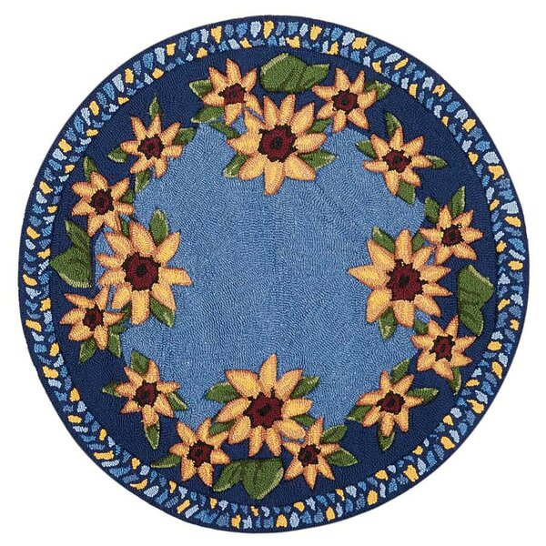Kit Blue/Yellow Area Rug by August Grove