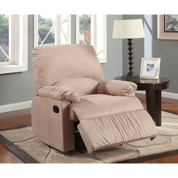 Jarne Contemporary Plush Padded Manual Glider Recliner W001187969