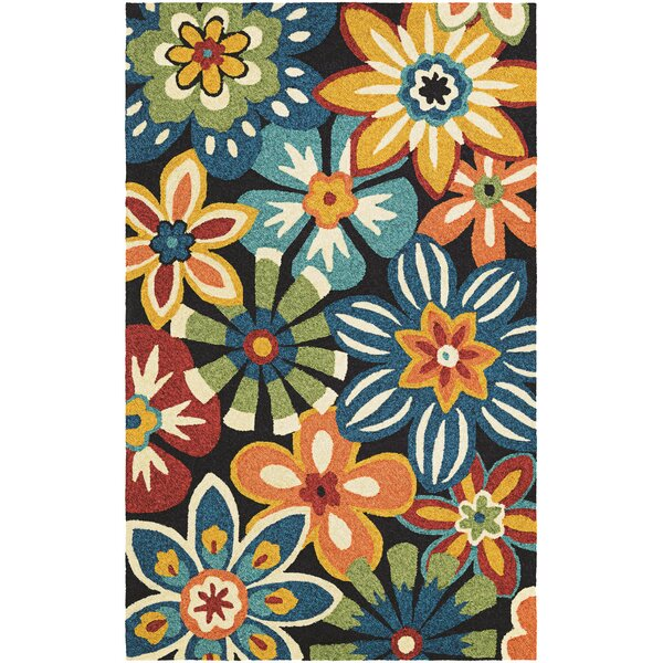 Croydon Geranium Navy Indoor/Outdoor Area Rug by Red Barrel Studio