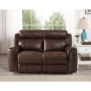 Gurley Leather Reclining Loveseat