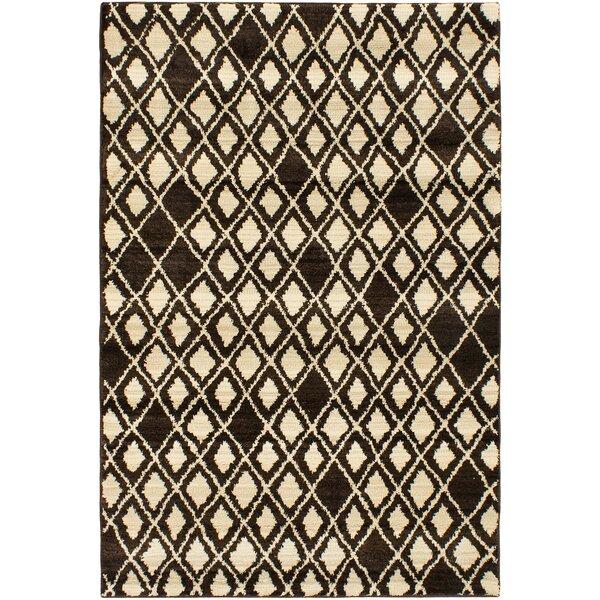 Atlas Marrakech Open Field Cream/Dark Brown Area Rug by ECARPETGALLERY