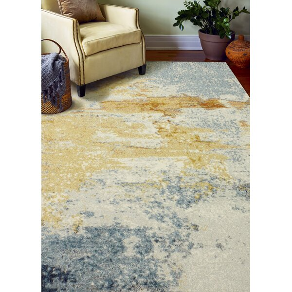 Heilman BlueYellow Area Rug by Wrought Studio