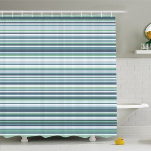 Top Reviews Striped Abstract Narrow Bands Group of Long Same Bars Vintage Geometric Artwork Image Shower Curtain Set By Ambesonne