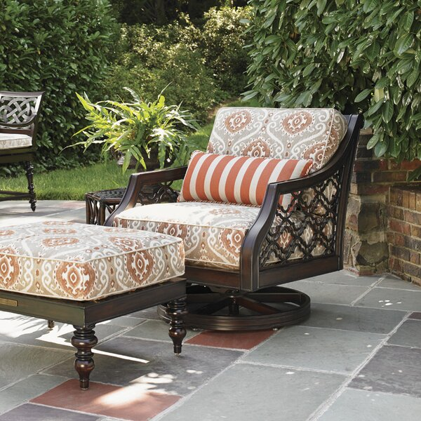 Sands Swivel Patio Chair with Sunbrella Cushions by Tommy Bahama Outdoor