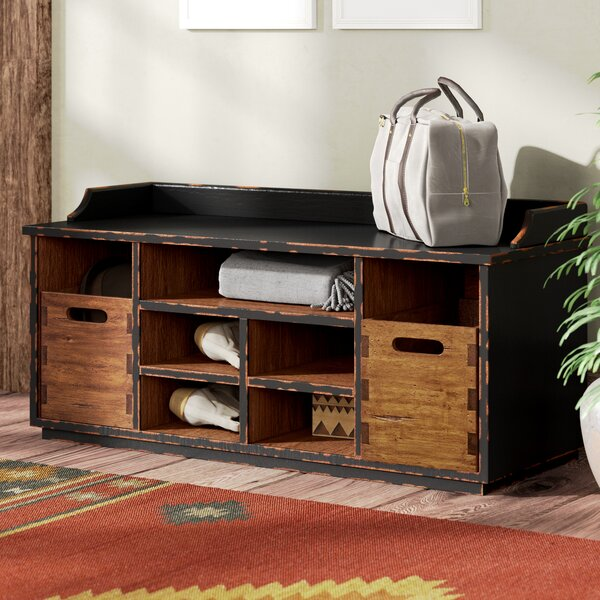 Windom Ridge Wood Storage Bench by Loon Peak