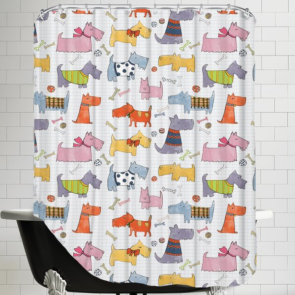 Dogs Shower Curtain by East Urban Home