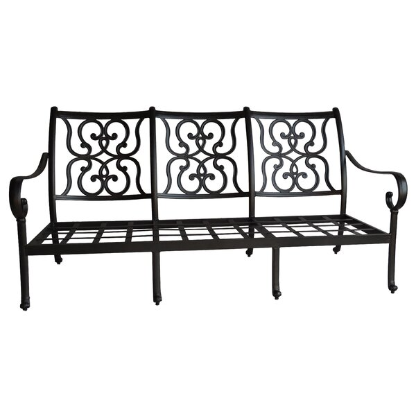 Poulin Patio Sofa with Sunbrella Cushions by Fleur De Lis Living Fleur De Lis Living