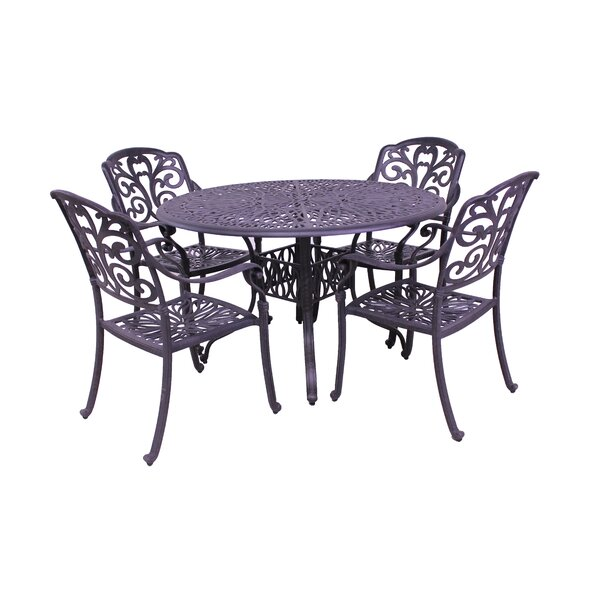 Thurston 5 Piece Dining Set by Fleur De Lis Living
