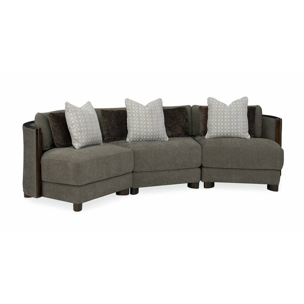 Discount Modern Symmetrical Streamline Commodore Sectional