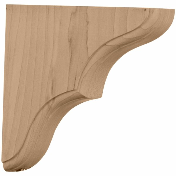 Stratford 5 1/2H x 1 3/4W x 5 1/2D Wood Bracket in Alder by Ekena Millwork