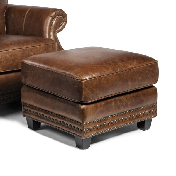 Minor Leather Ottoman by Canora Grey