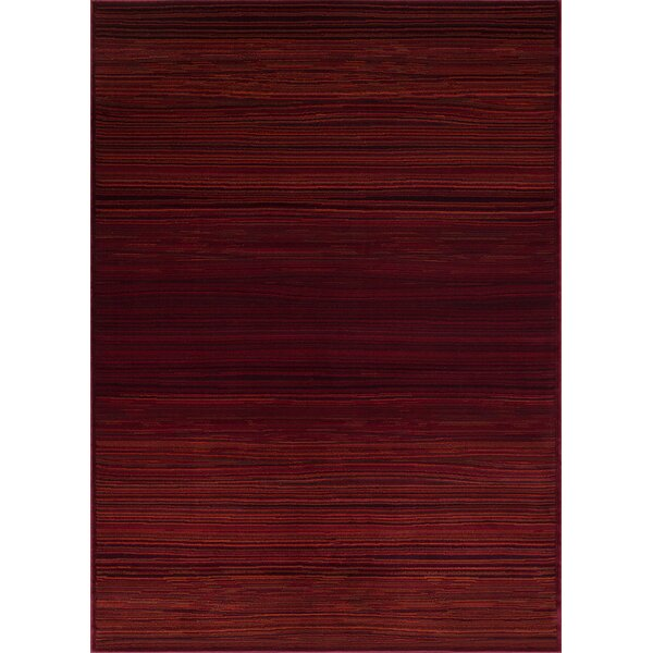 Ophelia Red Rust Area Rug by Red Barrel Studio