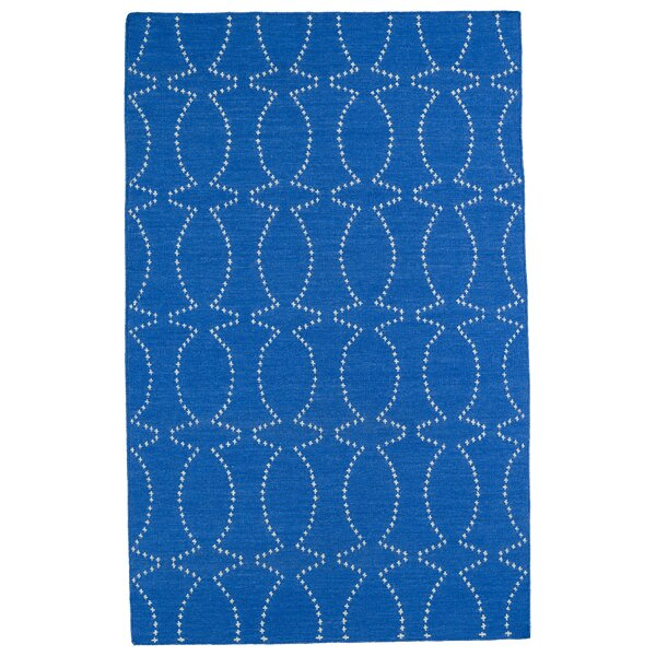 Gillespie Handmade Blue Geometric Area Rug by Winston Porter