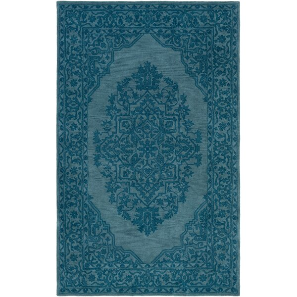 Farner Hand-Tufted Teal Area Rug by Ophelia & Co.