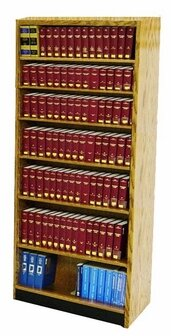 Single Face Shelf With Back Standard Bookcase By W.C. Heller