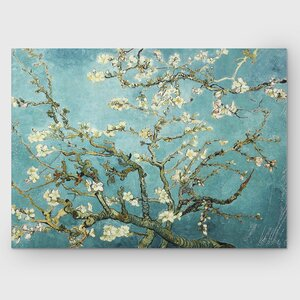 'Almond Blossom' Painting Print on Wrapped Canvas by World Menagerie