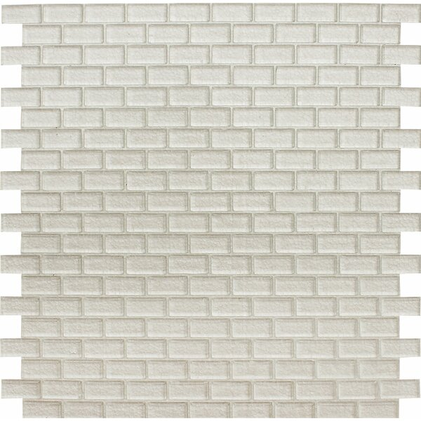 Tahoe Brick 0.625 x 1.25 Glass Mosaic Tile in Clear by Parvatile