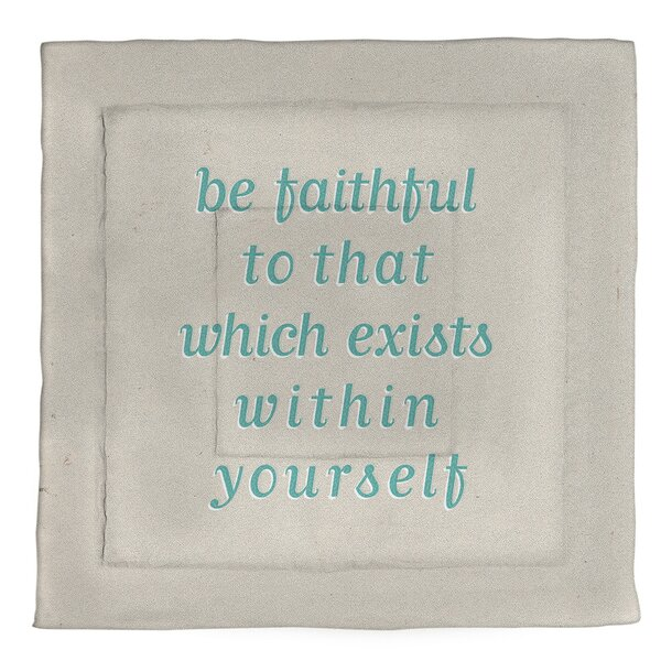 Be Faithful To Yourself Quote Single Reversible Comforter