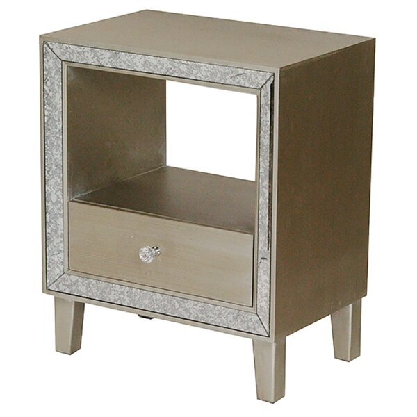 Lindy End Table With Storage by House of Hampton House of Hampton