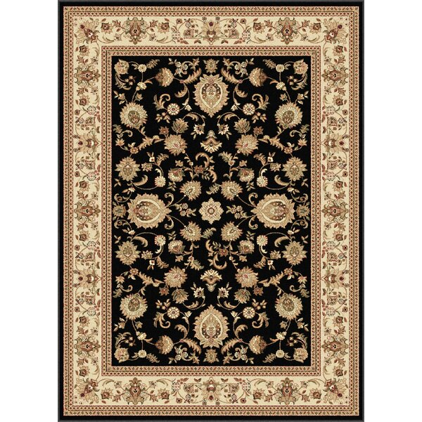 Clarence Black/Beige Area Rug by Astoria Grand