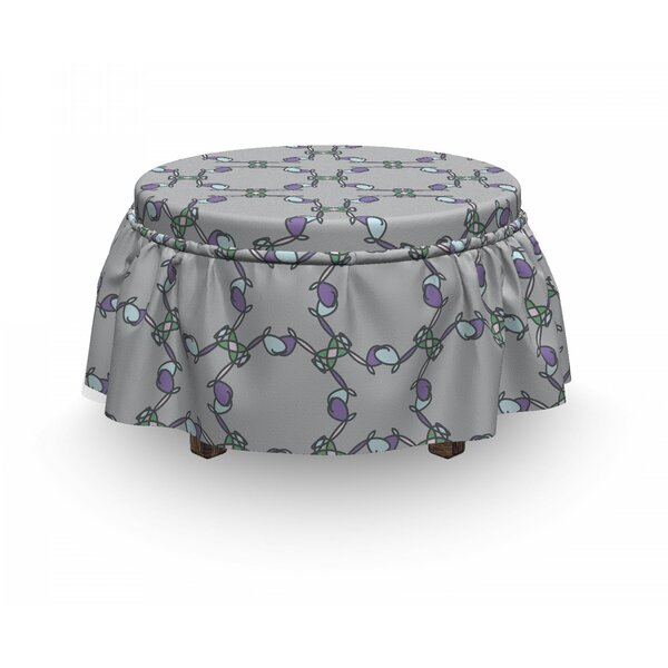 Doodle Ornament Ottoman Slipcover (Set Of 2) By East Urban Home