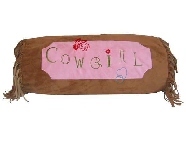 Jerald Cowgirl Bolster Pillow by Zoomie Kids