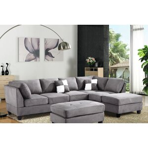 Childress Sectional. Faux Leather Black Childress Sectional  sc 1 st  Wayfair : sectional leather sofa with chaise - Sectionals, Sofas & Couches